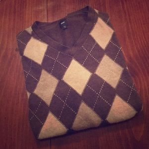 Cozy Gap Argyle Sweater